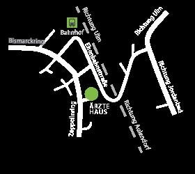 Anfahrt &Aeuml;rztehaus